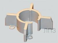 Прес-форма для виготовлення центаторів систем теплоізоляціїї труб опалення